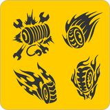 Off-Road symbols - vector set Royalty Free Stock Photo