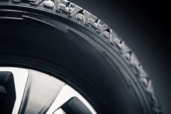 Off Road Tire and Alloy. Wheel Closeup Photo Royalty Free Stock Photo