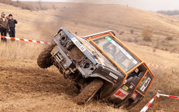 Off-road tires on three. Off-road race in Central Tower, Rousse, Bulgaria, held on 12 to 13 November 2011 Stock Images