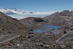 Off-road to the Upsala Glacier stock image