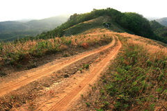Off road track. Is hard way to travel stock photos