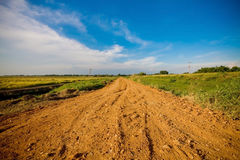 Off-road track. In country of Thailand stock photos