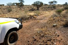 Off Road Track. In the Outback royalty free stock image