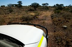 Off Road Track. In the Outback stock photos