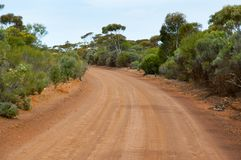 Off Road Track. In the Outback royalty free stock photo