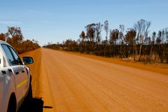 Off Road Track. In the Outback stock photo