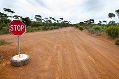 Off Road Track. In the Outback royalty free stock photos