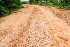 Off road track , Rough road. In the countryside royalty free stock photography