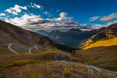 Off Road Trail Clear lake San Juan Mountains Stock Image