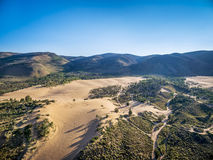 Off road trails on sand dunes Royalty Free Stock Photos
