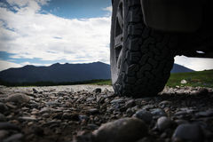 Off-road travel on mountain road. stock photography