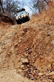 Off-Road Traveling in Zambia, Africa. Off-Road Driving in Rural, Mountainous Areas of Zambia, Africa Stock Images