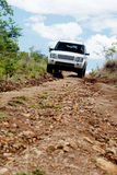 Off-Road Traveling in Zambia, Africa. Off-Road Driving in Rural, Mountainous Areas of Zambia, Africa Royalty Free Stock Photography