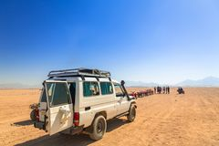 Off road trip to african desert. Of Egypt Stock Image
