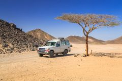 Off road trip to african desert. Of Egypt Royalty Free Stock Image