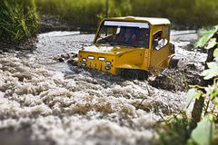 Off road truck in trial competition Stock Image
