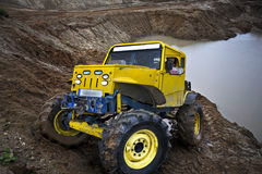 Off road truck in trial competition Royalty Free Stock Image