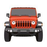 Off-road vector de illustratievoorzijde van de voertuigjeep royalty-vrije illustratie