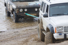 Off-Road Vehicle Breakdown Royalty Free Stock Images