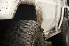 Off Road Vehicle. Driving Off Road Car in the mud very strong vehicle Stock Photo