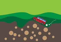 Off-road vehicle Extreme Sports. 4x4 Sports Utility Vehicle SUV Vector Illustration