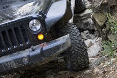 Off Road Vehicle Front End Driving Royalty Free Stock Images