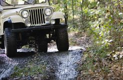 Off Road Vehicle Front End Driving Royalty Free Stock Photo