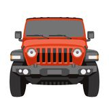 Off-road vehicle jeep vector illustration front. View royalty free illustration