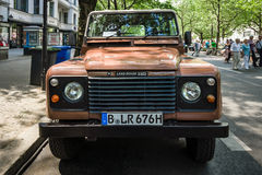 Off-road vehicle Land Rover Defender, 1983. Royalty Free Stock Photo