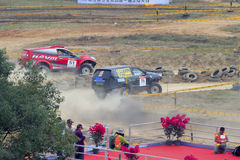 Off-road vehicle race pace Stock Photo
