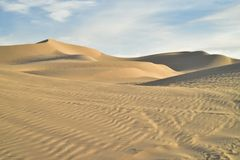 Off road vehicle tracks in sand at Imperial Sand Dunes, California, USA Stock Photography