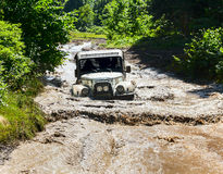 Off-road Vehicle UAZ Of Team Royalty Free Stock Photos