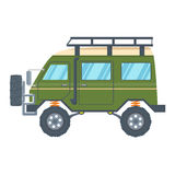 Off-road Vehicle Van with mud tire. Vector Royalty Free Stock Image