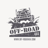 Off-road vehicle vector emblems, labels and logos Stock Photos