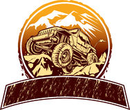 Off-road vehicle. Vector illustration of rock crawling off-road vehicle for logo design royalty free illustration