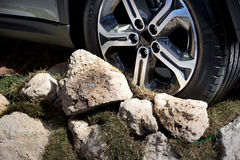 Off road vehicle wheel Stock Photography