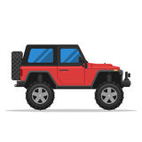 Off-road vehicle. On white background. Vector Illustration flat style for web design banner or print Royalty Free Stock Photos