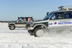 Off-road vehicles during the annual competitions in the jeep Stock Photography