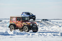 Off-road vehicles during the annual competitions in the jeep Stock Photo