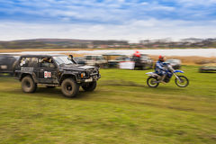 Off-road vehicles and motorcycle Stock Image