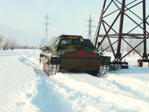 Off-road vehicles in the snow Stock Photography