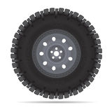 Off road vehicles wheel. Vector illustration isolated on white Royalty Free Stock Images