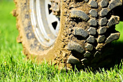 Off road wheel and tire full of mud Royalty Free Stock Image