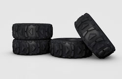 Off-road wheels Royalty Free Stock Images