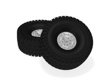 Off road wheels Royalty Free Stock Image