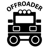 Off-road on white background Royalty Free Stock Photos
