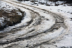 Off-road winter  dirt snow Royalty Free Stock Image