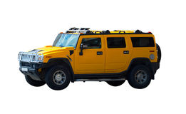 Off road 4x4. Yellow off road machine Hummer Royalty Free Stock Photos
