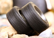Off roading car tyres Stock Image