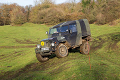 Off roading Land Rover Royalty Free Stock Photos